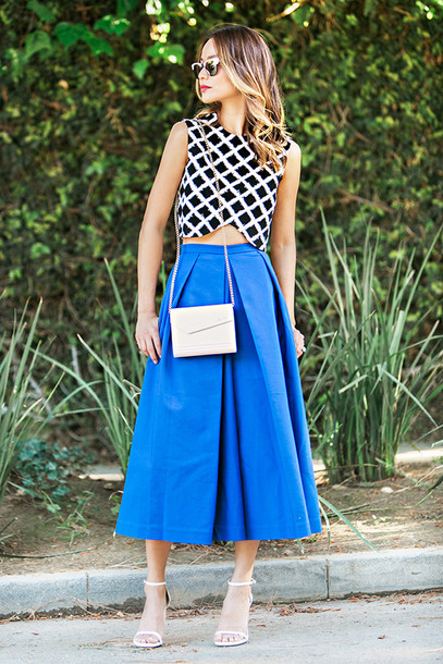 3r2ngt-l-610x610-skirt-pants-midi+skirt-jamie+chung-crop-crop+tops--spring+outfits-sunglasses-blogger